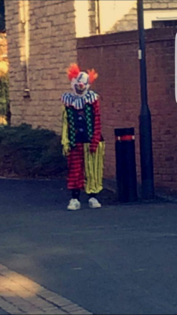 Clown spotted in Swindon