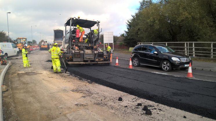 Road works Greenbridge, Swindon