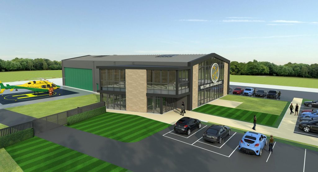 3D plans for the new custom-built Wiltshire Air Ambulance base.