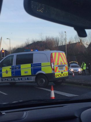 Police attend road traffic collision on Thamesdown Drive.