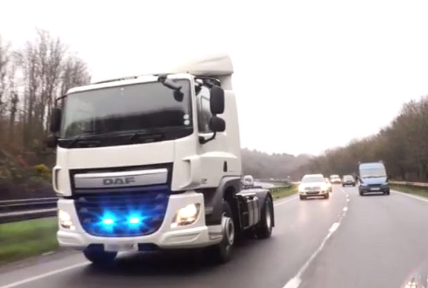 unmarked police lorry to catch car drivers on phone