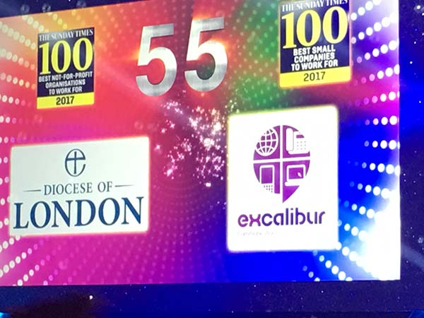 excalibur communications makes sunday times top 100 best small