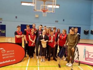 The Swindon College Wheelchair Basketball Team celebrate success!