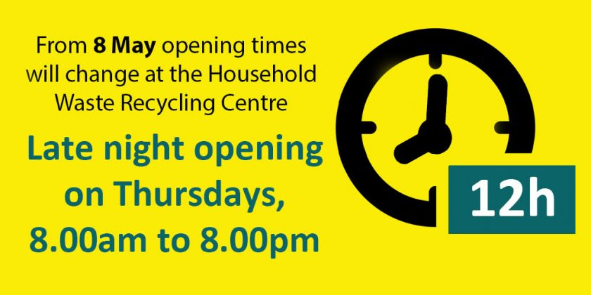 Household Waste Recycling Centre hours change