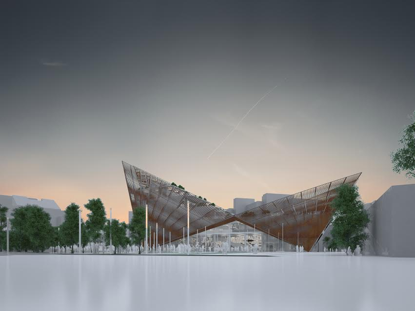 Architect's impression of the new Swindon Museum and Art Gallery.