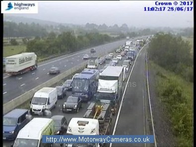 M4 multi-vehicle collision