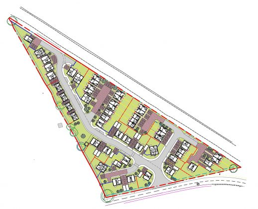 Picture of new 52 house layout in Blunsdon