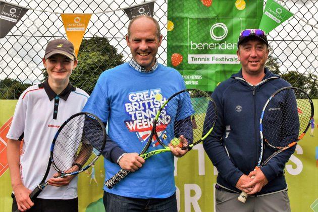 MP Justin Tomlinson Attends The Highworth Tennis Club Great British Tennis Weekend