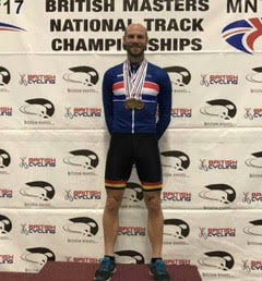 Local Teacher and volunteer cycle coach wins Gold at the National Masters Championships