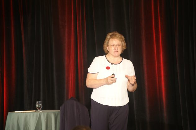 Helen speaking at a Canadian conference last year.
