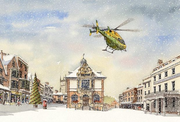 Wiltshire Air Ambulance's Christmas cards for 2017