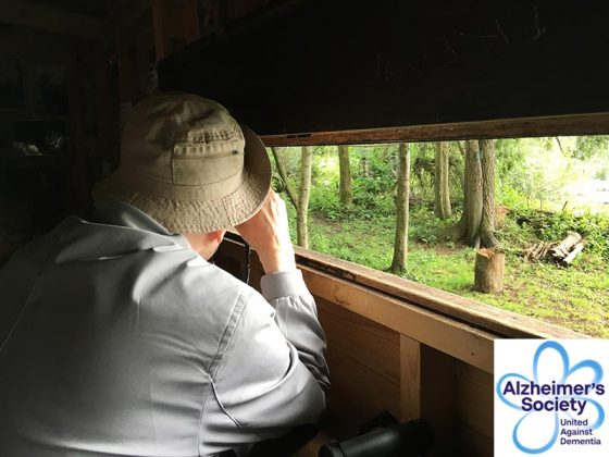 Alzheimer's Society Side by Side pair go bird watching