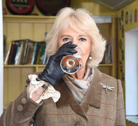 he Duchess of Cornwall trying some Bee's Organic Ale