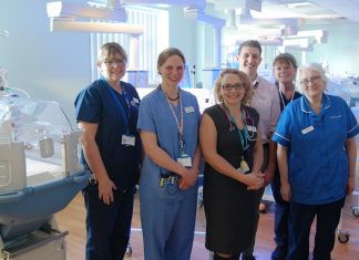 The team from GWH's Special Care Baby Unit