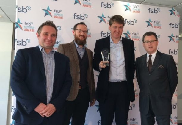 Excalibur Receives FSB Best Employer Award (from left to right, Mike Hayden, Josh Hoole, Peter Boucher, Dave Sharpe)