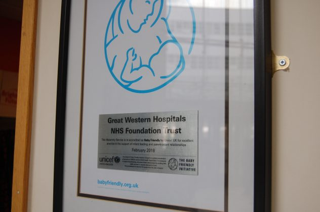 UNICEF re-accredits the Great Western Hospital as baby friendly