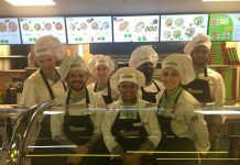 The team at Broccoli, Pizza and Pasta at The Crossing, The Brunel Centre, Swindon