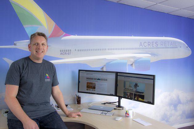 Tony with Acres plane