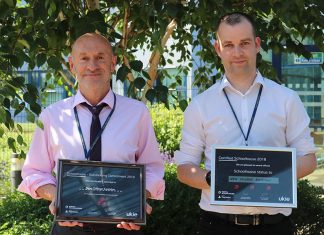 New College Swindon picked up an award for their Outstanding Contribution to the Digital Schoolhouse programme