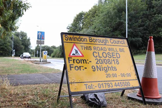 Road Closures - Coate Water Roundabout Swindon