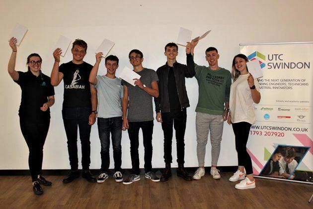 UTC Swindon Students celebrate results