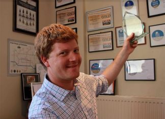Arkell's Swindon Brewery Awards Head Brewer Alex Arkell