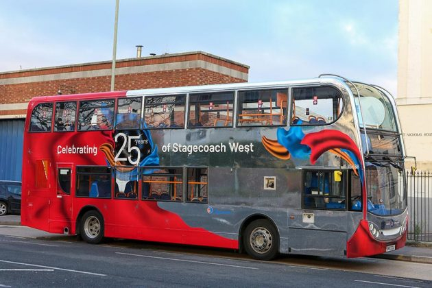 Stagecoach Gold bus with 25 yr livery (1)