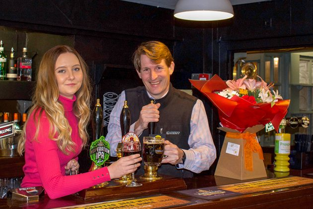 George Arkell and Bianca at The Angel Purton