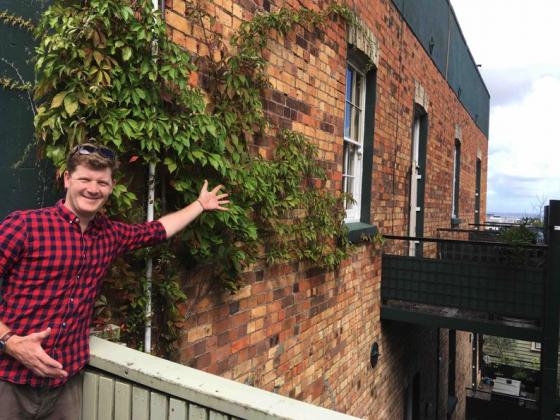 Alex Arkell visiting White Star Brewery in Caversham, New Zealand