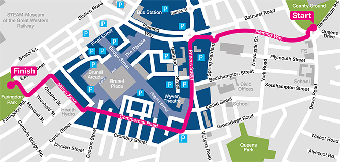 Map of Honda March Swindon