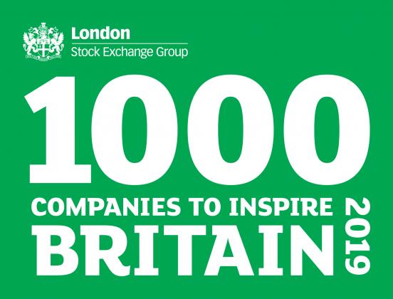 London Stock Exchange - top 1000 Companies inspiring Britain 2019