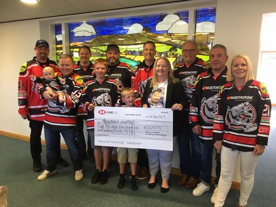Ice hockey memorial match for Darren Taylor - June 2019