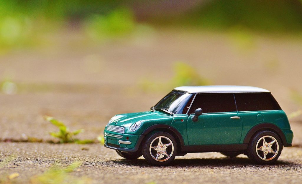 green mini car example