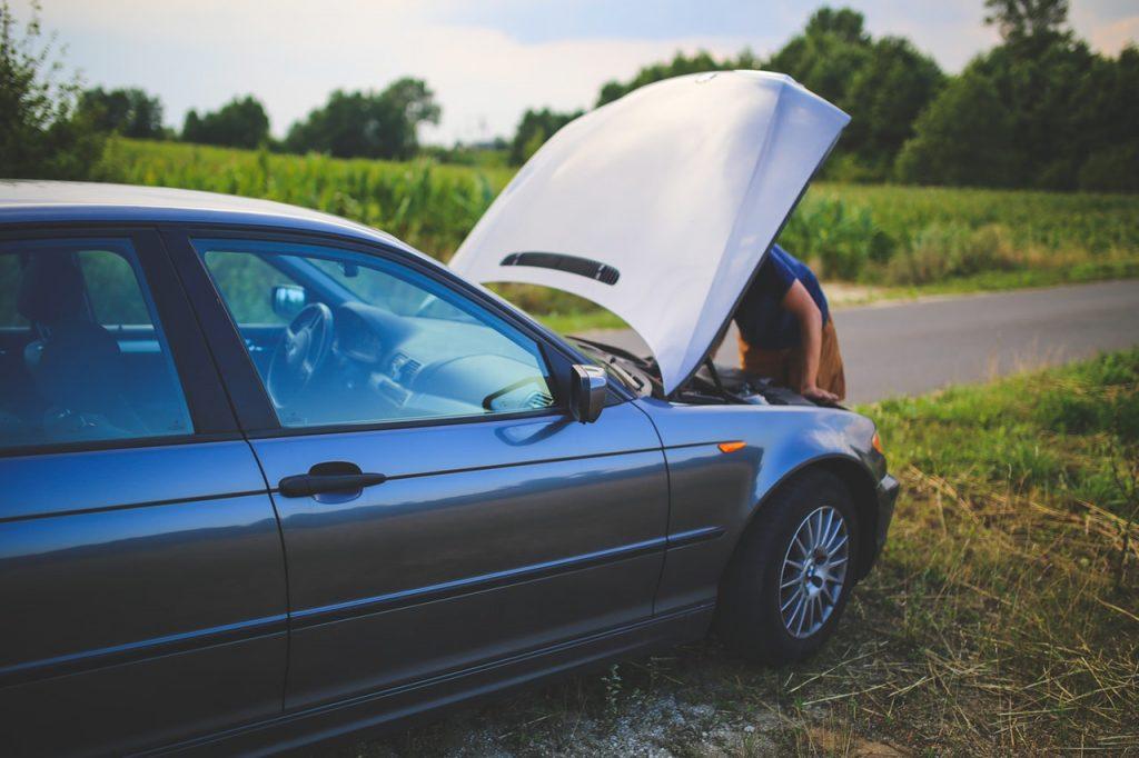repairing a car after crash