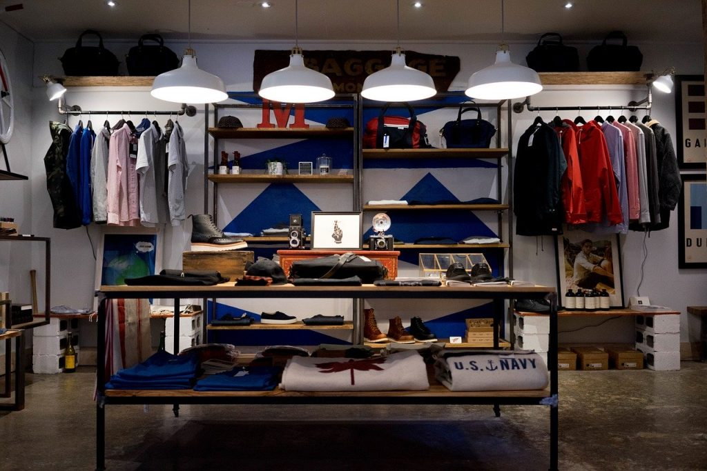 Store with designer clothes